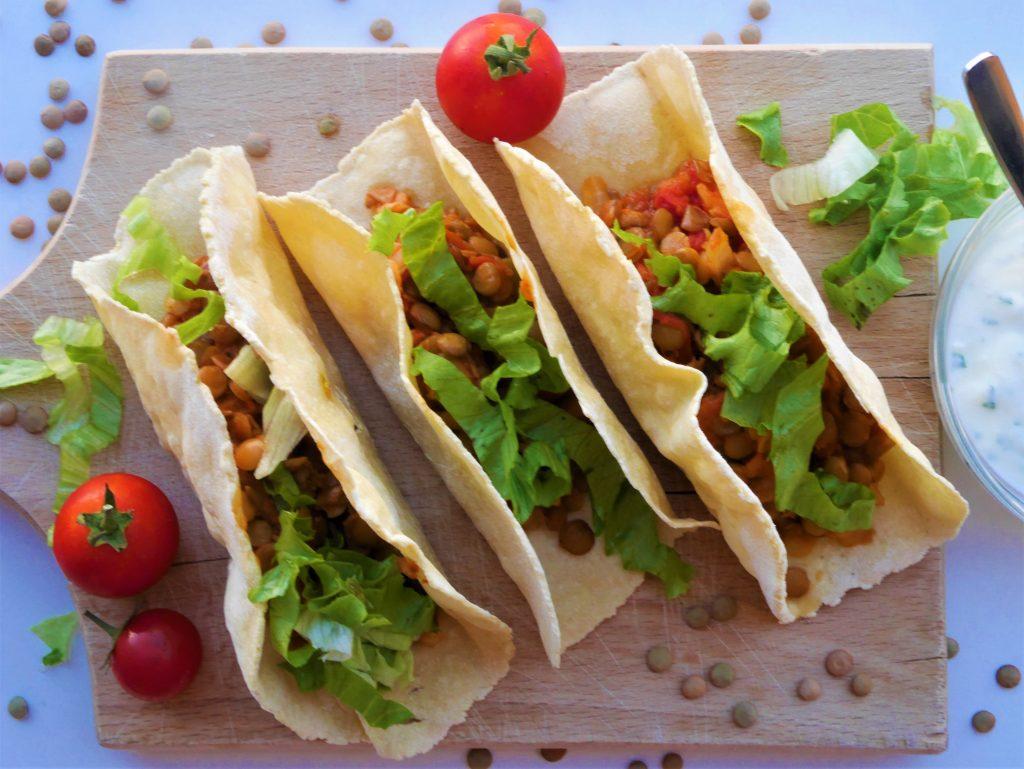 recept za večeru - tacos s lećom